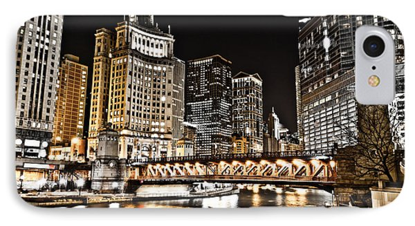 Chicago City At Night Phone Case by Paul Velgos