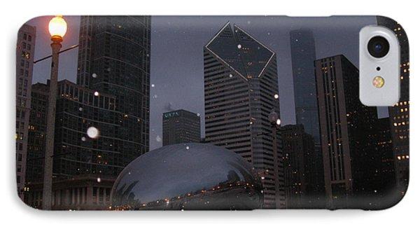 Chicago Cloud Gate At Night Phone Case by Ausra Huntington nee Paulauskaite