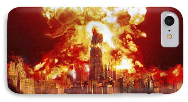 Chicago Disintegrates As A Nuclear IPhone Case by Ron Miller
