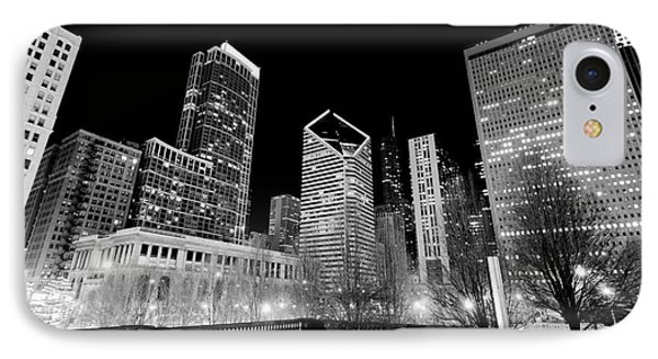 Chicago Downtown At Night  Phone Case by Paul Velgos