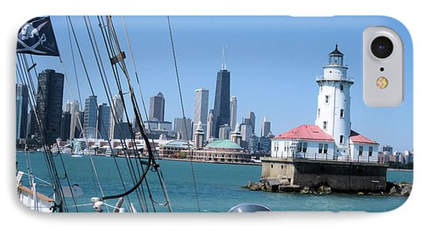 Chicago Harbor Lighthouse Phone Case by Sonia Flores Ruiz