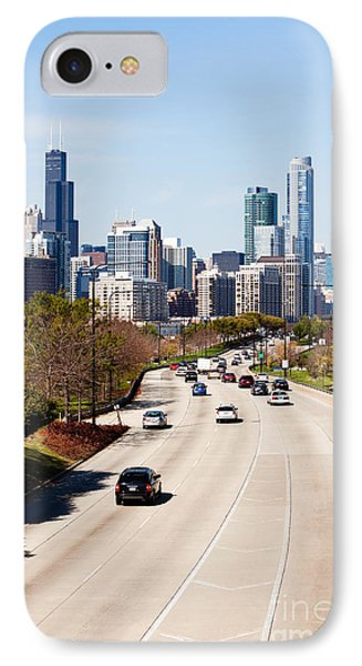 Chicago Lake Shore Drive Cars IPhone Case by Paul Velgos