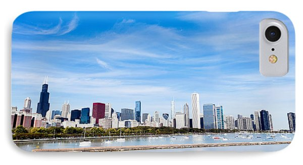 Chicago Lakefront Skyline Wide Angle IPhone Case by Paul Velgos