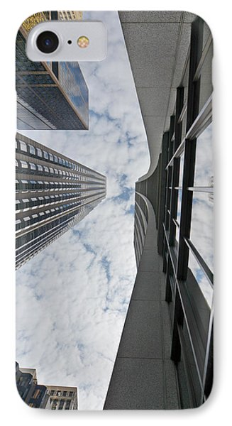 Chicago - Look Towards The Sky Phone Case by Christine Till