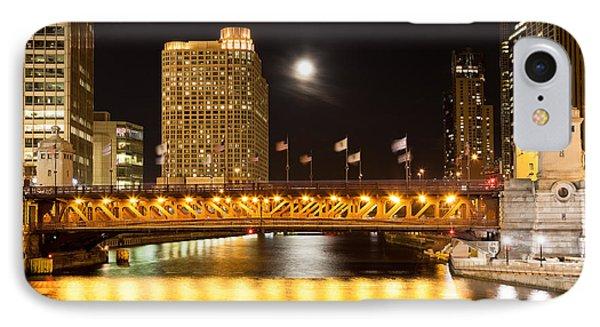 Chicago Michigan Avenue Dusable Bridge At Night Phone Case by Paul Velgos