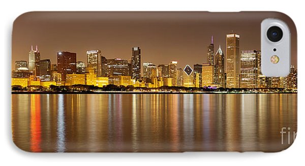 Chicago Panorama At Night IPhone Case by Paul Velgos
