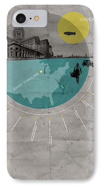 Chicago Poster IPhone Case by Naxart Studio