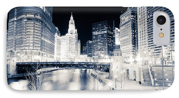 Chicago River At Wabash Avenue Bridge IPhone Case