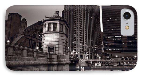 Chicago River Bridgehouse Phone Case by Steve Gadomski