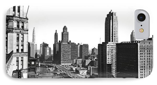 Chicago River In Chicago IPhone Case by Underwood Archives