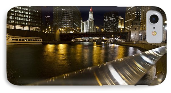 Chicago Riverwalk And Reflections IPhone Case by Sven Brogren