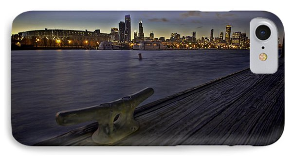 Chicago Skyline And Harbor At Dusk IPhone Case