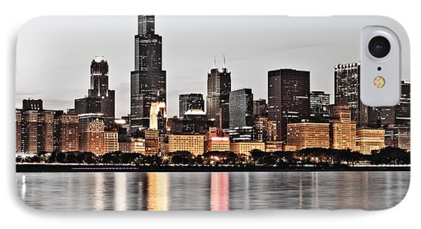 Chicago Skyline At Dusk Photo IPhone Case by Paul Velgos