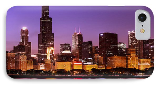 Chicago Skyline At Night High Resolution Image IPhone Case by Paul Velgos