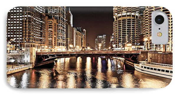 Chicago Skyline At State Street Bridge Phone Case by Paul Velgos