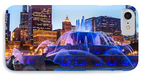 Chicago Skyline Buckingham Fountain High Resolution IPhone Case by Paul Velgos