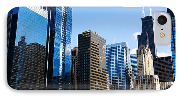 Chicago Skyline Downtown City Buildings Phone Case by Paul Velgos