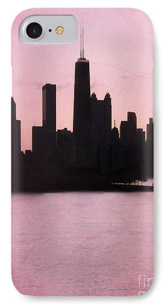 Chicago Skyline In Pink Phone Case by Sophie Vigneault