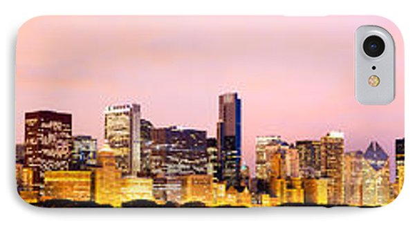 Chicago Skyline Panoramic Phone Case by Paul Velgos