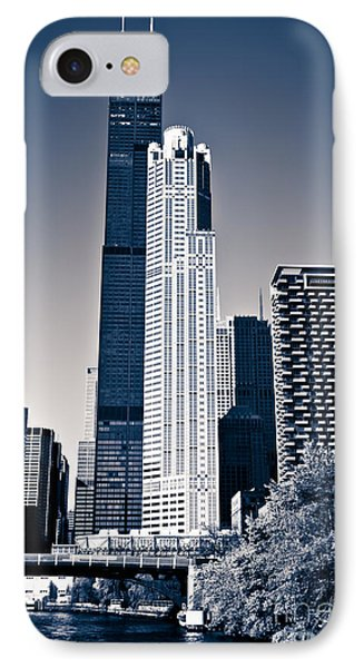 Chicago Skyline With Sears-willis Tower IPhone Case by Paul Velgos