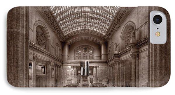Chicagos Union Station Bw Phone Case by Steve Gadomski