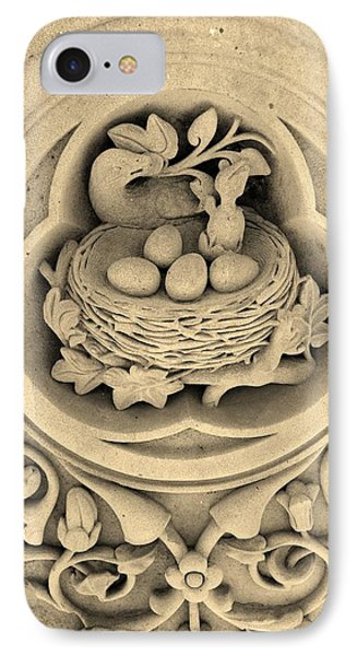 Chicks In Stone In Sepia Phone Case by Rob Hans