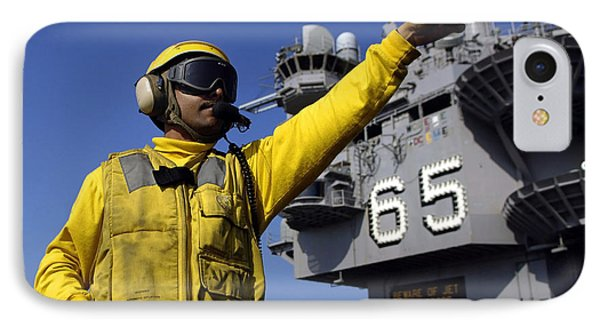 Chief Aviation Boatswains Mate Directs Phone Case by Stocktrek Images