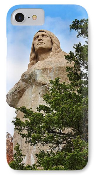 Chief Blackhawk Statue Phone Case by Bruce Bley