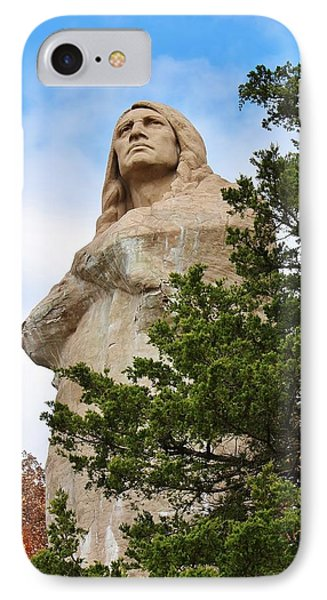 Chief Blackhawk Statue IPhone Case by Bruce Bley