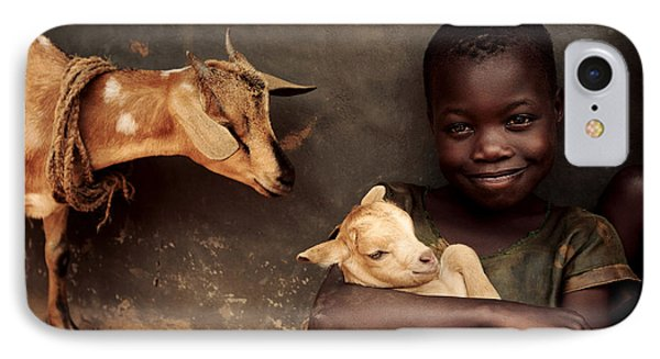 Child Holding A Kid Phone Case by Mauro Fermariello