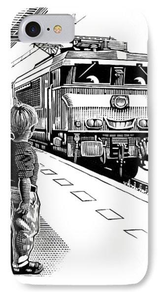 Child Train Safety, Artwork Phone Case by Bill Sanderson
