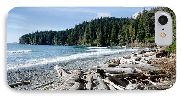 China Beach Vancouver Island Juan De Fuca Provincial Park Phone Case by Andy Smy