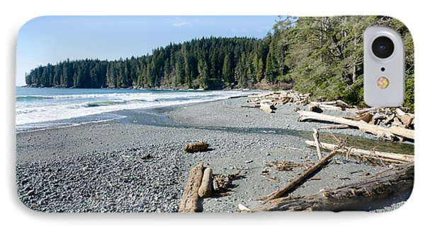 China Wide China Beach Juan De Fuca Provincial Park Vancouver Island Bc Canada Phone Case by Andy Smy
