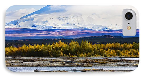Chistochina River And Mount Sanford Phone Case by Yves Marcoux