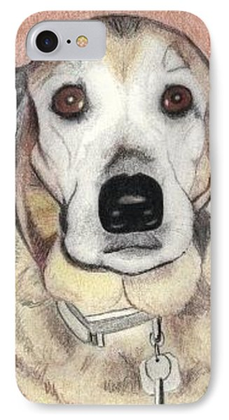 IPhone Case featuring the drawing Chloe by Ana Tirolese