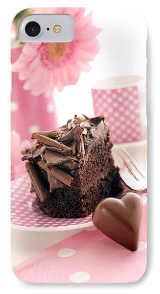 Chocolate Cake IPhone Case by Erika Craddock