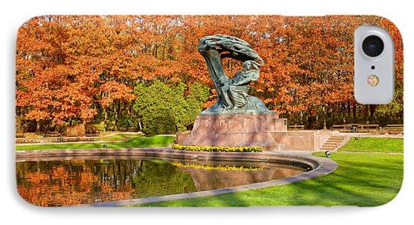 Chopin Monument In The Lazienki Park IPhone Case by Artur Bogacki