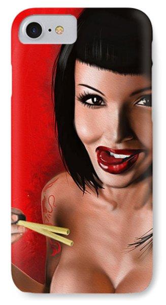 Chopsticks Phone Case by Pete Tapang