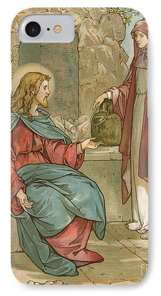 Christ And The Woman Of Samaria IPhone Case by John Lawson