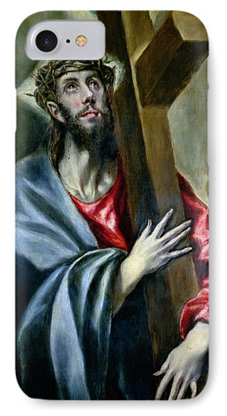 Christ Clasping The Cross Phone Case by El Greco