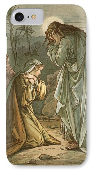 Christ In The Garden Of Gethsemane IPhone Case by John Lawson