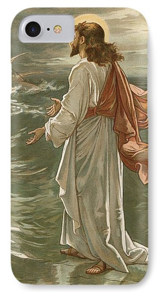 Christ Walking On The Waters IPhone Case by John Lawson