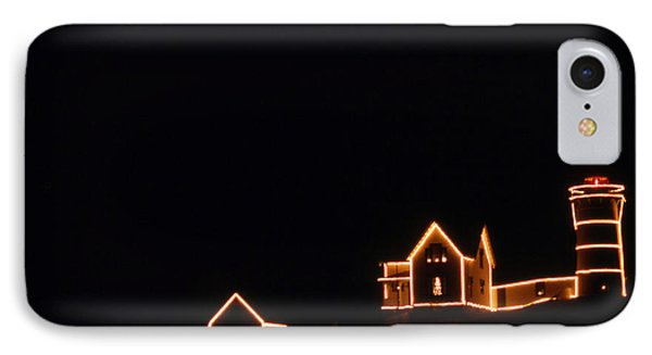 Christmas At The Nubble Phone Case by Skip Willits