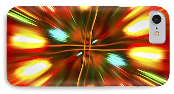 IPhone Case featuring the photograph Christmas Light Abstract by Steve Purnell