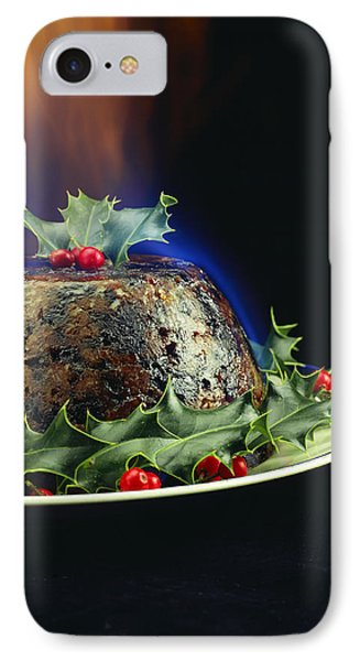 Christmas Pudding IPhone Case by David Munns