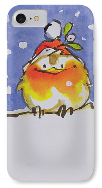 Christmas Robin Phone Case by Diane Matthes
