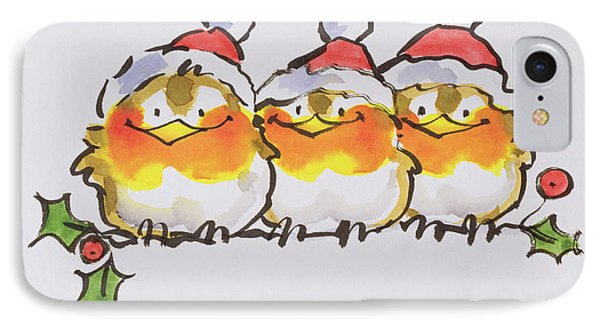 Christmas Robins Phone Case by Diane Matthes