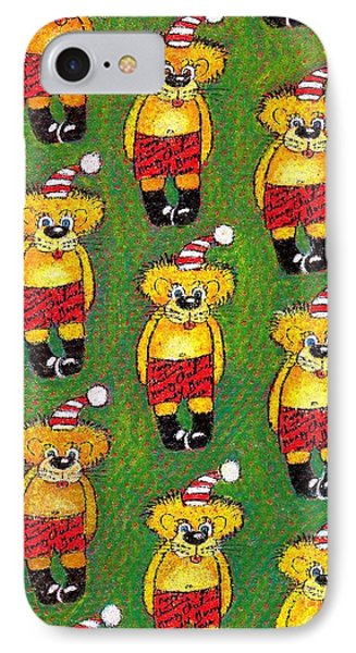 Christmas Teddy Bears Phone Case by Genevieve Esson