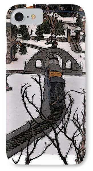 Christmas Train IPhone Case by Tim Allen