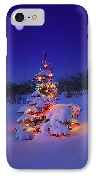 Christmas Tree Glowing Phone Case by Carson Ganci